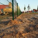 Zaun auf dem Grundstück