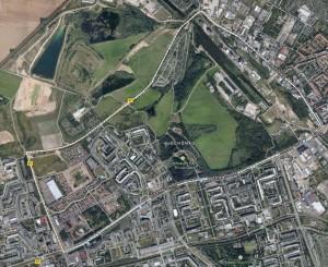 Satellitenbild von Schönau Leipzig