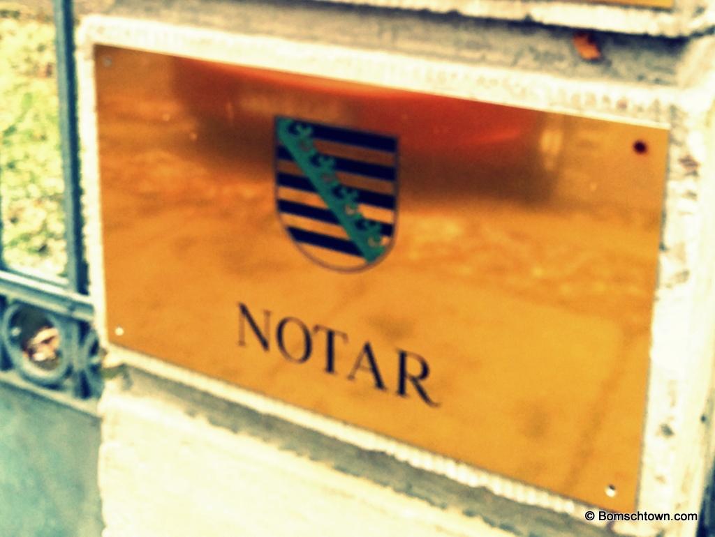 Notar-Schild