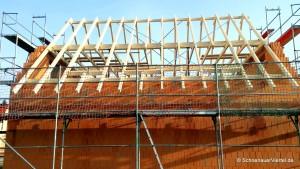 Dachkonstruktion Blick Nordseite