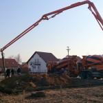 Beton wird gegossen