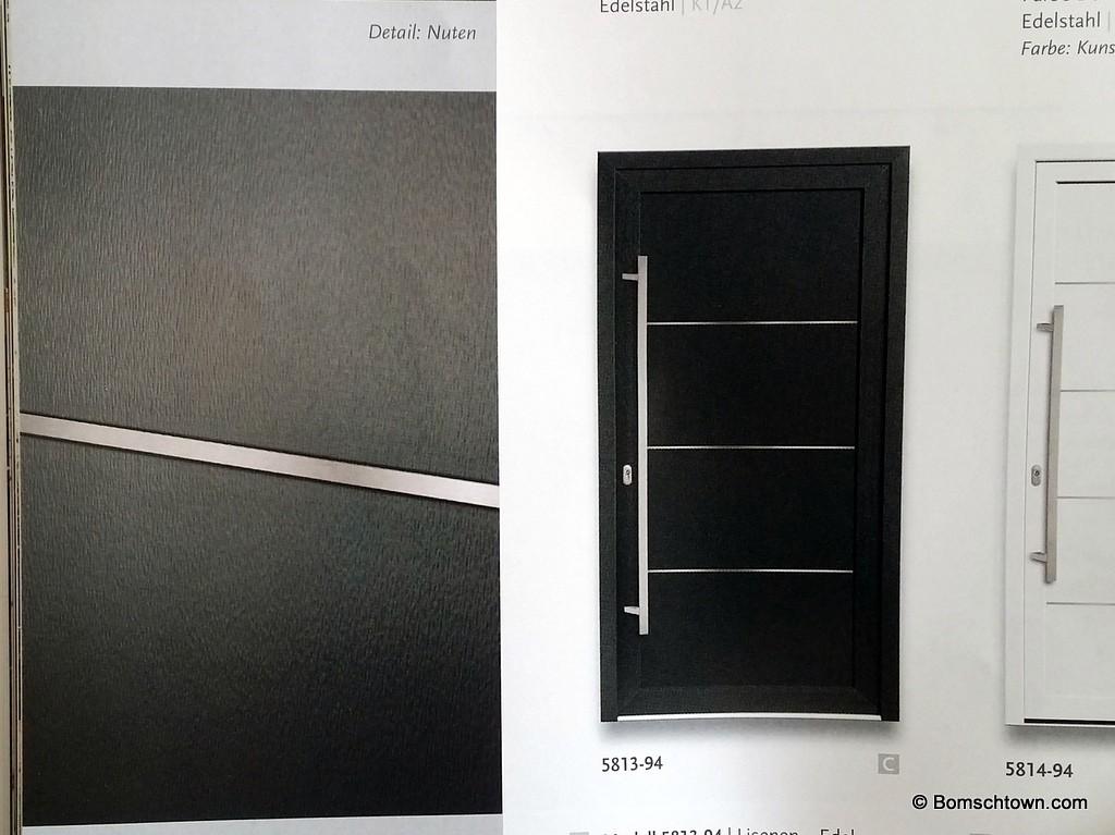 Eingangstür ohne Fenster