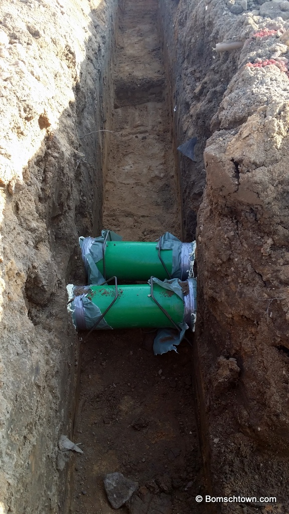 Startschuss planung fundament hausbau in bomschtown for Planung hausbau