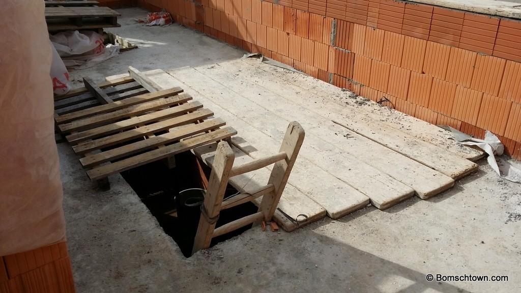 Rohbau-Treppenöffnung
