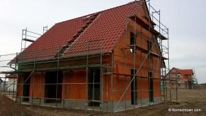 Dach fast komplett gedeckt