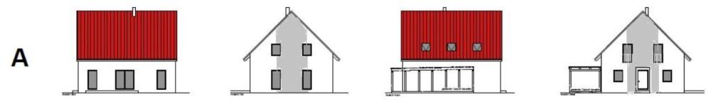 Fassadengestaltung breiter Strich