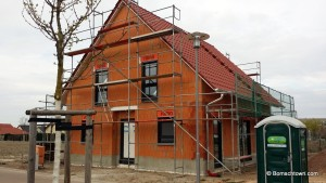 West Seite Haus mit Fenstern