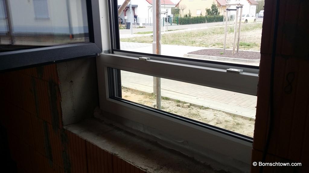 Fenstereinbau hausbau in bomschtown for Fenster unterlicht