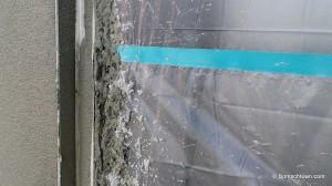 Verputzte Außenwand am Fensterbereich