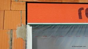 Putzprofil an der Fensterecke