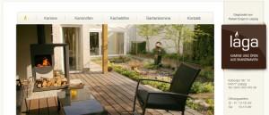 Screenshot der Laga-Kamin Webseite