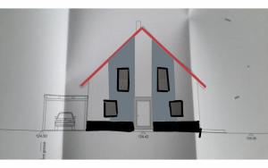 Fassadengestaltung, zwei Striche