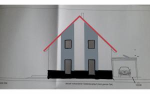 Fassade mit Streifen