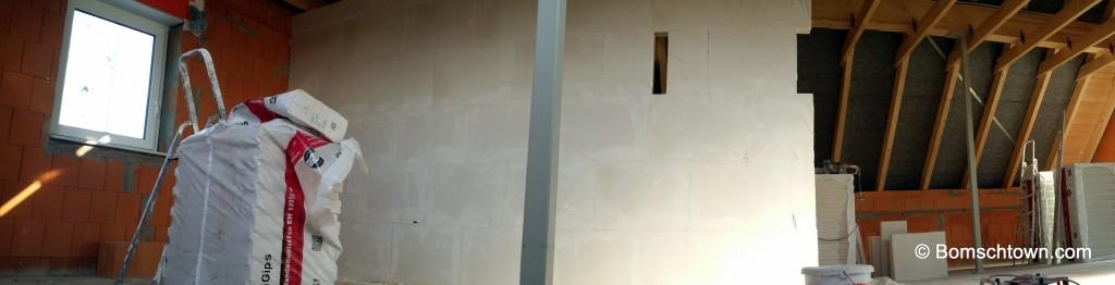 Innenwand zum Schlafzimmer