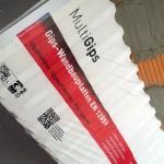 Stapel Gips-Wandbauplatten