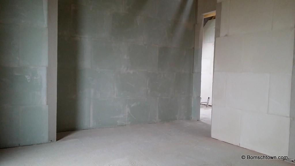 viele Gips-Wände