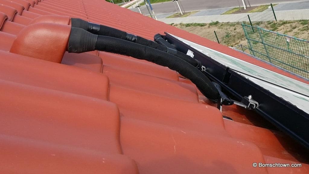 Solarkollektor Dachanschluss