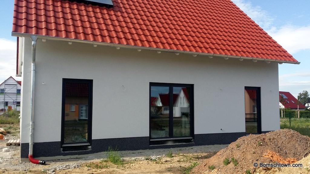 Haus Mit Anthrazit Fenster außenputz hausbau in bomschtown