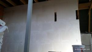 Detailansicht Gips-Wand