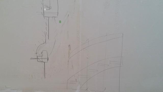 Planung, beleuchtetes Treppengeländer