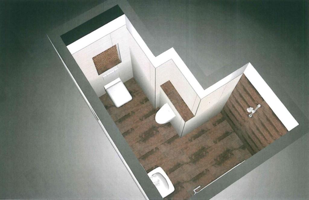 3D Entwurf Gäste WC