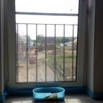 Blick von Innen auf Brüstungsgitter