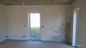 2 Stunden genügt der Wand um zu trocknen