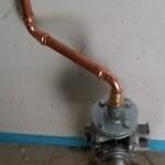 Gasheizung mit Gasanschluss verbunden