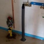 Gasanschluss im HWR mit Pumpe
