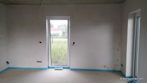 Wand sichtbar trocken
