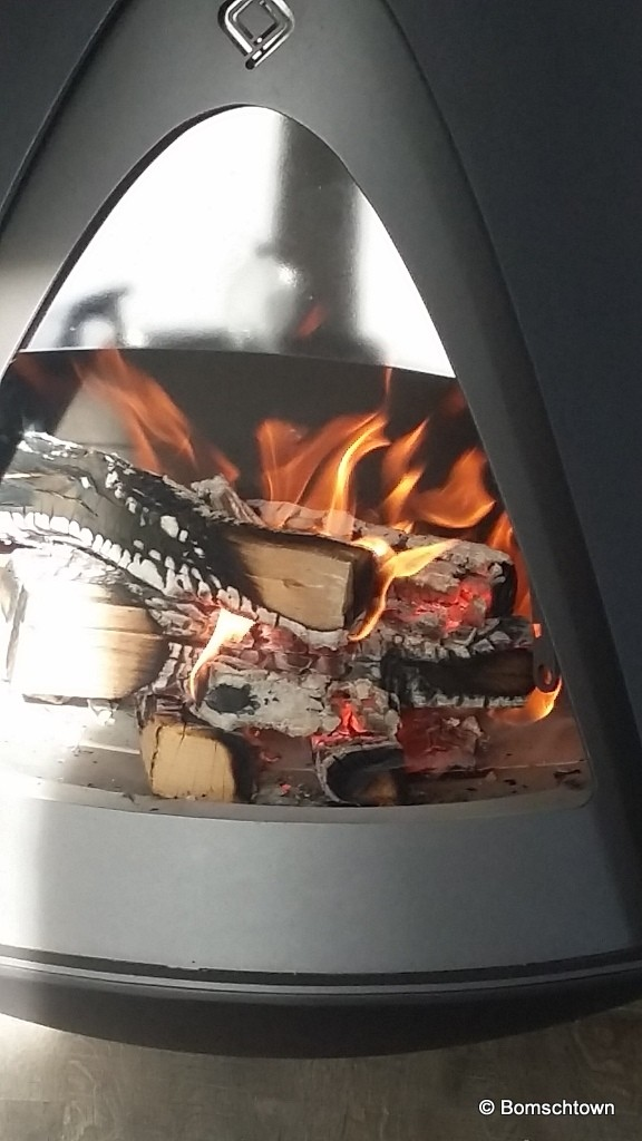 Holzverbrennung nach 45 Minuten