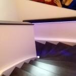 Blick von oben auf die Treppe