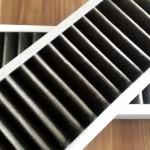 Gereinigter und verschmutzter Filter