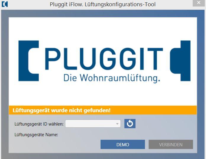 Startbidschirm Pluggit iFlow