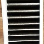Verschmutzer Abluftfilter