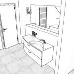 Blick in Richtung Waschbecken