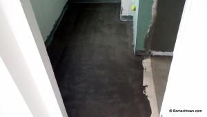 Boden im Gäste Bad ohne Fliesen