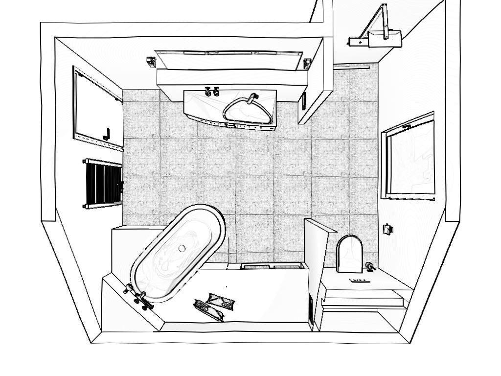 Draufsicht Haupt-Bad