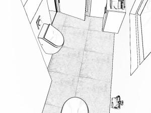 Grundrissplanung Gäste Bad