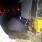 Beton-Abfall zum Begradigen