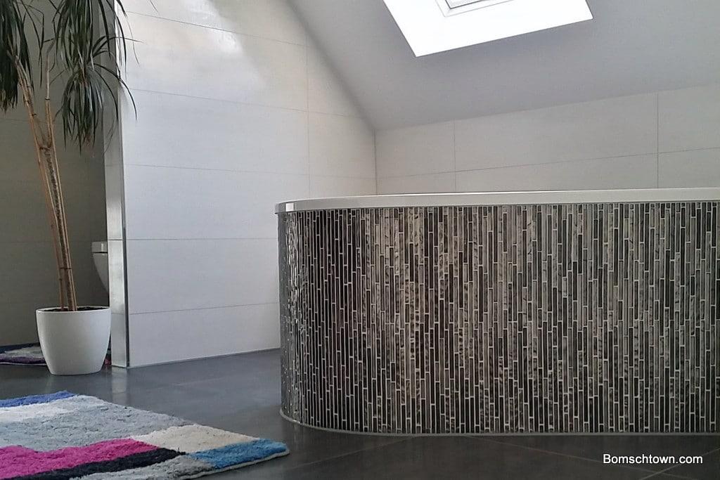 g stebad rostfarben haupt bad in betonoptik hausbau in bomschtown. Black Bedroom Furniture Sets. Home Design Ideas