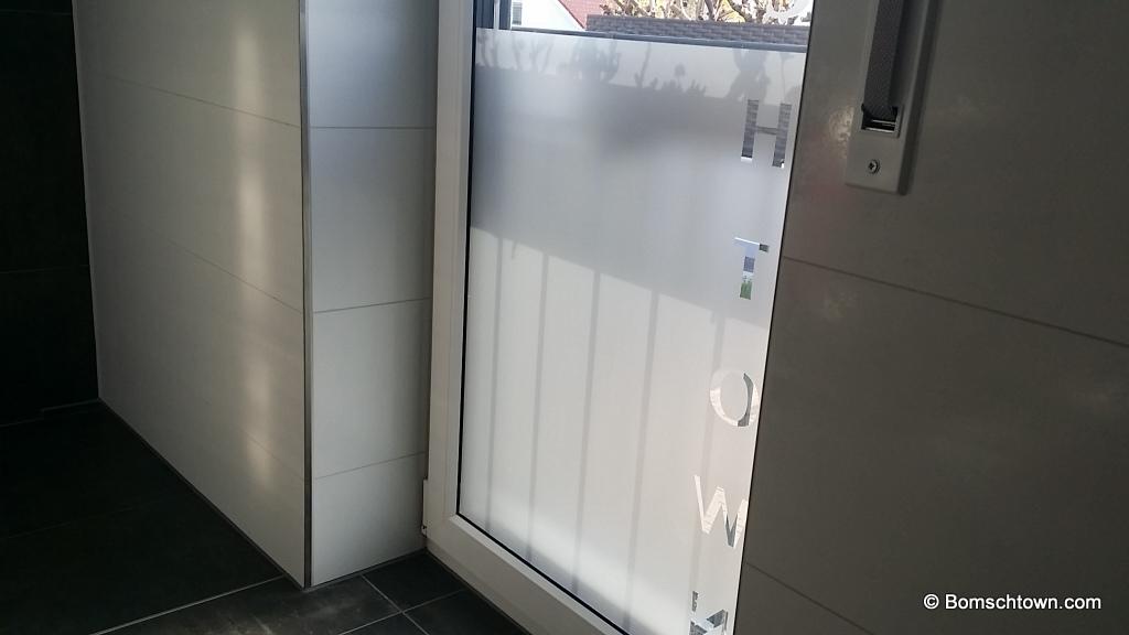 Der Toilettenblick mit Folie