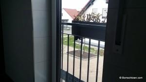 Der Toilettenblick ohne Sichtschutz