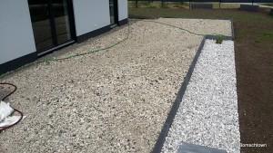 Terrassenunterkonstruktion mit Betonrecycling