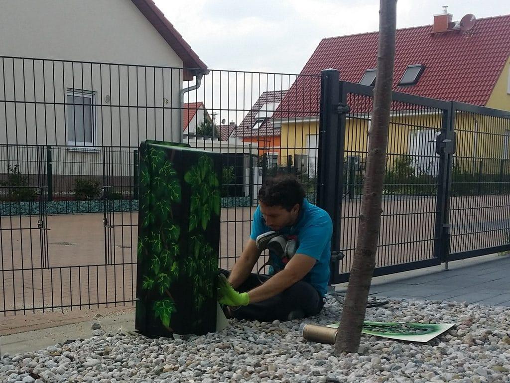 Stromanschlusskasten Aussen Verschonern Darf Man Das Hausbau In Bomschtown