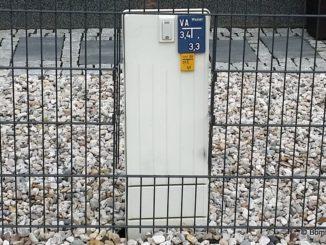Stromanschlusskasten im Außenbereich