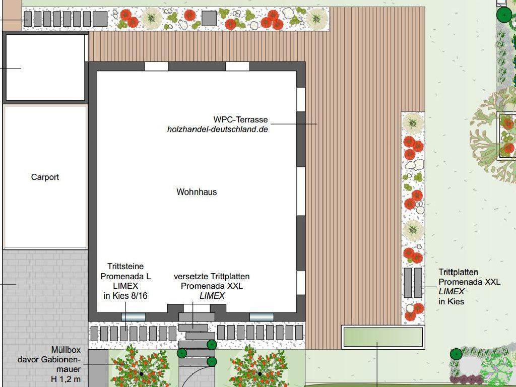 Terrassenegstaltung: L-Terrasse