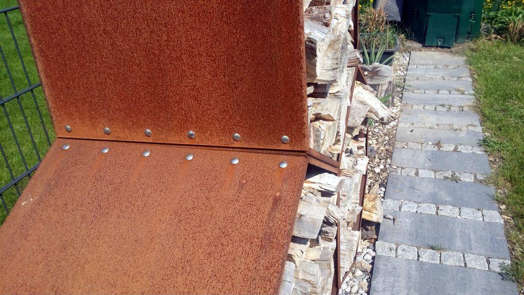 Holzunterstand Cortenstahl Woodbee Hausbau In Bomschtown