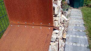 Rostdetails am Woodbee