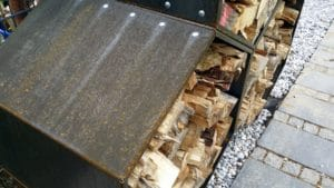 Cortenstahl Rost nach 11 Tagen im Woodbee